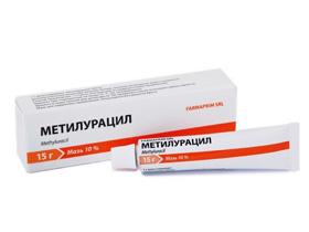 Метилурациловая мазь для лечения геморроя