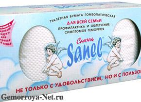 Туалетная бумага «Санель»